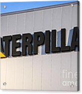 Caterpillar Sign Picture Acrylic Print by Paul Velgos