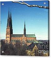 Cathedral At Uppsala Acrylic Print