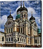 Cathedral In Tallinn Acrylic Print by David Smith