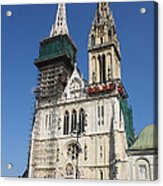 Cathedral In Zagreb Croatia Acrylic Print