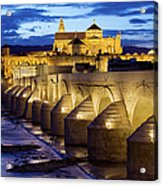 Cathedral Mosque And Roman Bridge In Cordoba Acrylic Print