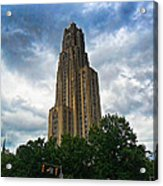 Cathedral Of Learning Acrylic Print by S Patrick McKain