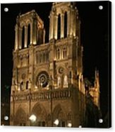 Cathedral Of Notre Dam Acrylic Print