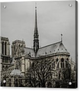 Cathedral Of Notre Dame De Paris Acrylic Print by Marco Oliveira
