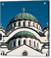Cathedral Of Saint Sava In Belgrade Serbia Acrylic Print