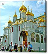 Cathedral Of The Annunciation Inside Kremlin Walls In Moscow-russia Acrylic Print