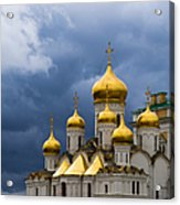 Cathedral Of The Annunciation Of Moscow Kremlin - Square Acrylic Print
