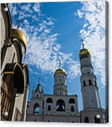 Cathedral Of The Dormition And Ivan The Great Belfry Of Moscow Kremlin Acrylic Print