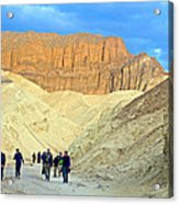 Cathedral Peaks From Golden Canyon In Death Valley National Park-california Acrylic Print
