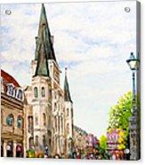Cathedral Plaza - Jackson Square, French Quarter Acrylic Print