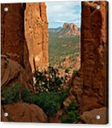 Cathedral Rock 05-012 Acrylic Print by Scott McAllister