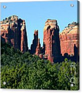 Cathedral Rock Behind The Forest Acrylic Print