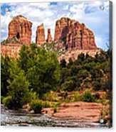 Cathedral Rock Acrylic Print by Fred Larson