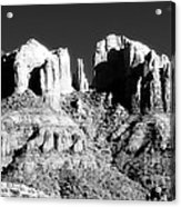 Cathedral Rock Glow Acrylic Print by John Rizzuto
