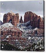 Cathedral Rock In Winter Arizona Acrylic Print