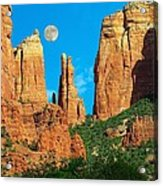 Cathedral Rock Moon Acrylic Print