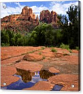 Cathedral Rock Reflections Acrylic Print