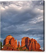 Cathedral Rock Sunset Acrylic Print by Robert Jensen