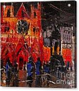 Cathedral Saint Jean-baptiste In Lyon Acrylic Print