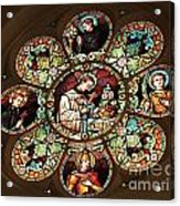 Cathedral Stained Glass Acrylic Print