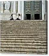 Cathedral Steps Girona Spain Acrylic Print