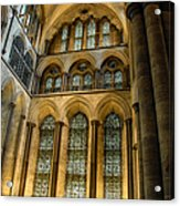 Cathedral Walls And Windows Acrylic Print
