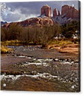Cathedral's Dusting  Acrylic Print by Tom Kelly