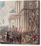 Catherine II On The Balcony Of The Winter Palace, Greeted By Guards And People On The Day Acrylic Print