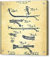 Catheter Patent From 1902 - Vintage Acrylic Print