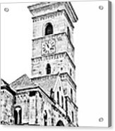 Catholic Cathedral In Alba Iulia Acrylic Print