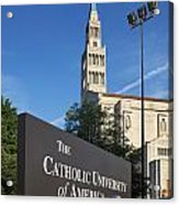 Catholic University Of America Acrylic Print