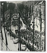 Catholics March In Antwerp.. Parade Ends Two Weeks Easter Acrylic Print