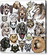 Cats And Dogs Acrylic Print