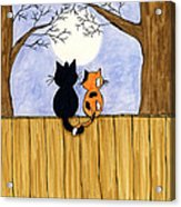Cats Night Out Acrylic Print