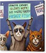 Cats On Strike Edit 2 Acrylic Print
