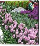 Catterpillar Large Flower Garden Vegas Acrylic Print