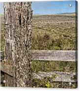 Cattle Fence On The Stornetta Ranch Acrylic Print