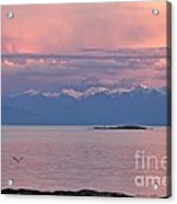 Cattle Point At Sunset On Vancouver Island British Columbia Acrylic Print