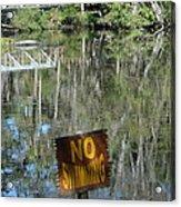 Caution Gators Acrylic Print