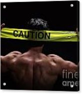 Caution Acrylic Print
