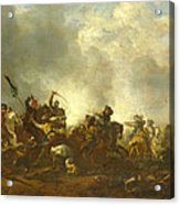 Cavalry Attacking Infantry Acrylic Print