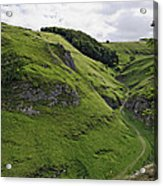 Cave Dale From Peveril Castle Acrylic Print