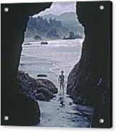 Mp-335-cave In Battle Rock Port Orford Acrylic Print