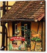 Caveau St Pierre Sign In Colmar France Acrylic Print