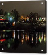 Caveman Bridge And Taprock At Christmas - Panorama Acrylic Print