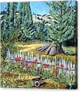 Cazadero Farm And Flowers Acrylic Print