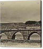 Ceasarea Aqueduct 1 Antiqued Acrylic Print