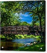 Cedar Creek Bridge Acrylic Print