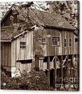Cedar Creek Grist Mill Sepia Acrylic Print