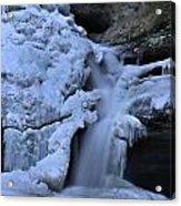 Cedar Falls In Winter At Hocking Hills Acrylic Print by Dan Sproul